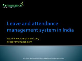 Leave and attendance management system in India