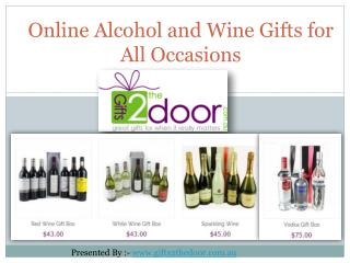 Shop Online Alcohol and Wine Gifts in Australia