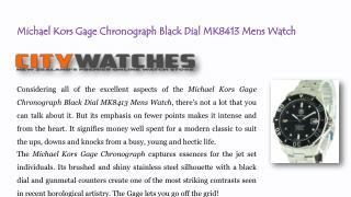 Michael Kors Gage Chronograph Black Dial MK8413 Mens Watch
