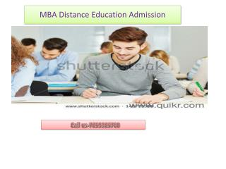 Distance Education MBA Admission-7859985700