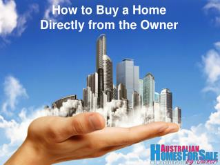 How to Buy a Home Directly from the Owner