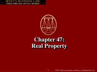 Chapter 47: Real Property