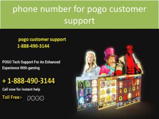""" phone number for pogo customer support 1-888-490-3144"""
