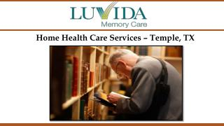 Home Health Care Services – Temple, TX