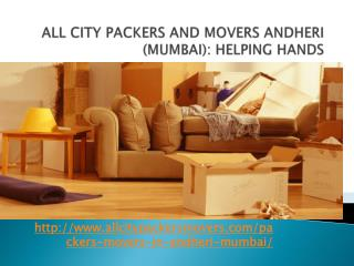 Packers and Movers in Andheri (Mumbai)-All City Packers and Movers®