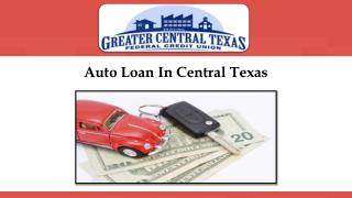 Auto Loan In Central Texas