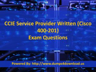 Pass4sure CCIE Service Provider 400-201 Exam Dumps