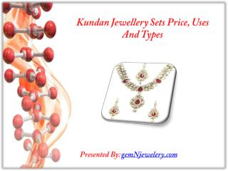 Kundan Jewelery Sets Price, Uses and Different Types
