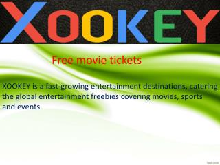 Win free movie tickets online | Deals on movie tickets | Xookey