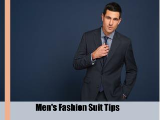 Men's Fashion Suit Tips