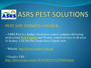ASRS Pest Solutions