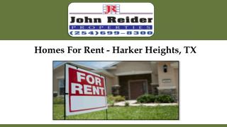 Homes For Rent - Harker Heights, TX
