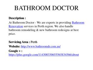 Bathroom Doctor