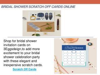 Bridal Shower Scratch Off Cards Online