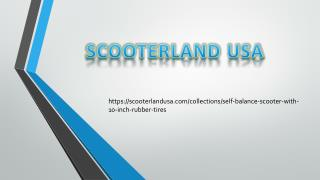 Scooterland USA low priced self balancing scooter with rubber tires