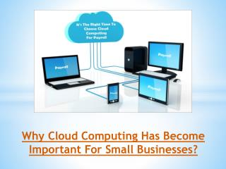 Why Cloud Computing Has Become Important For Small Businesses?