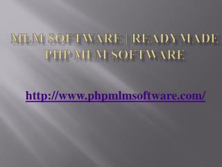 MLM Software | Readymade PHP MLM Software