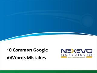 10 Common Google AdWords Mistakes