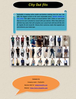 Fashion Clothes For Sale Online