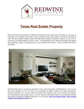 texas real estate property