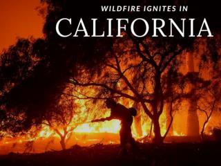 Wildfire ignites in California
