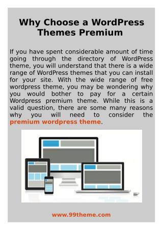 Why Choose a WordPress Themes Premium