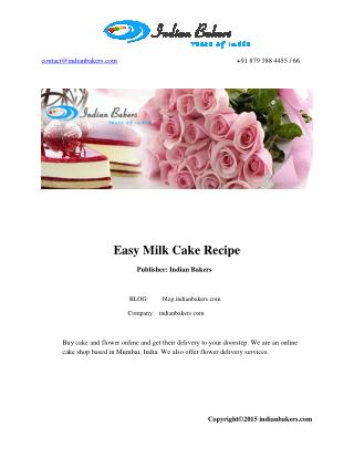 Special Occasion Cakes/Birthday Cake Recipe