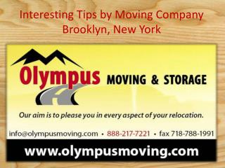 Interesting Tips by Moving Company Brooklyn, New York