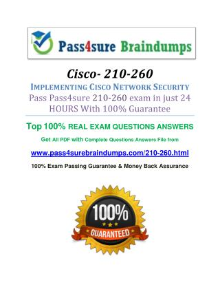 Pass4sure 210-260 Dumps