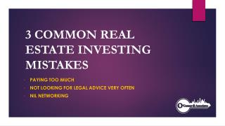 3 Common Realestate Mistakes