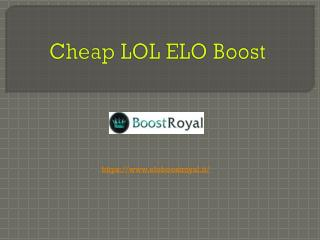 Cheap LOL ELO Boost