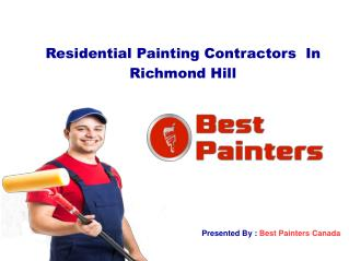Residential Painting Contractors Richmond Hill