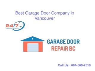 Looking For High Quality Garage Doors in Vancouver