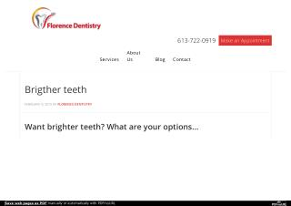 Brighter Teeth with Florence Dentistry