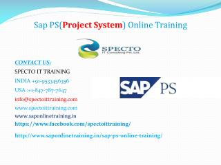sap ps online training-sap ps live training|spectotraining