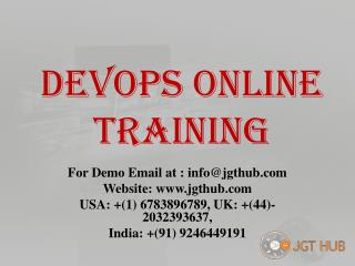 DevOps Online Training_jgthub.com