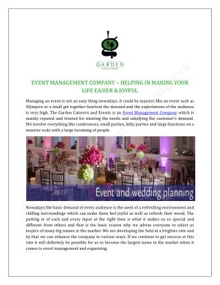 Event Management Company, Party & Wedding Planner in Delhi India