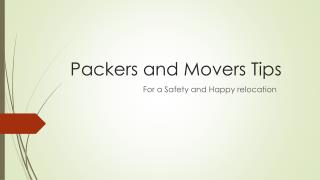 packers and movers relocation free tips video