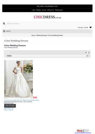 Buy 2016 Cheap A-line Wedding Dresses Uk