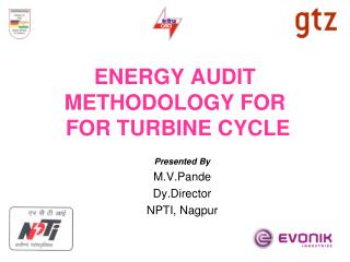ENERGY AUDIT METHODOLOGY FOR  FOR TURBINE CYCLE