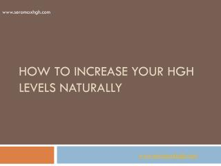 Ways How to increase your HGH levels naturally