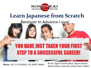 Learn Japanese from scratch at Nihonkai