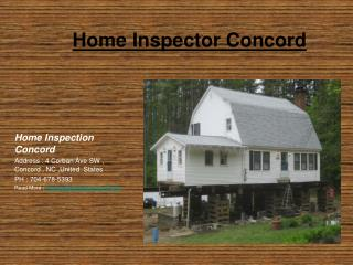 Home Inspections Concord NC