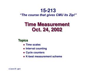 Time Measurement Oct. 24, 2002