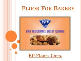 Floor For Bakery