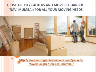Packers and Movers in Ghansoli (Navi Mumbai) -All City Packers and Movers®