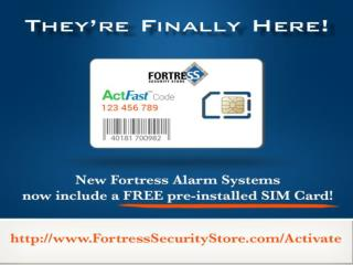 Get Your Home alarm System Sim Card For Free