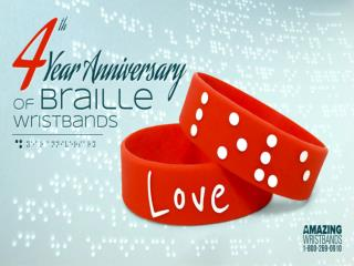 Braille Silicone Wristbands for Visually Impaired