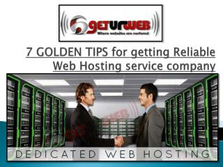 reliable web hosting services company