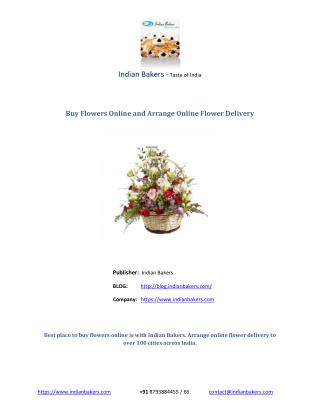 Buy Flowers Online and Arrange Online Flower Delivery